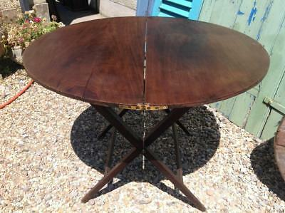 Antique Campaign Table Thornton And Herne Victorian Coaching Table Folding Table