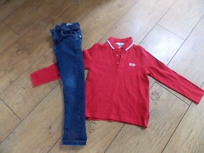 Boys Hugo Boss Polo Shirt Next Skinny Jeans Age 5-6 Years