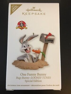 Hallmark Keepsake Ornament 2011 Edition Bugs Bunny Looney Tunes One Funny Bunny