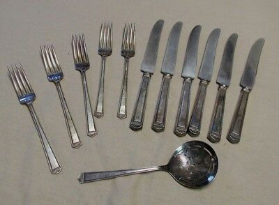 1847 Rogers ANNIVERSARY Silverplate Flatware Knives Forks Tomato Server