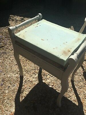 Vintage Antique Piano Stool Project Shabby Chic