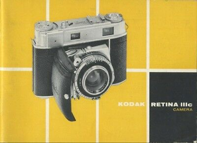Original Instruction Manual for Kodak Retina IIIc small c