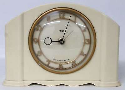 SMITHS SECTRIC Vintage Art Deco Style Bakelite Electric Mantle Alarm Clock