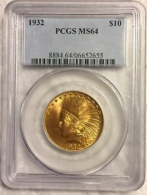 1932 Gold $10 Indian PCGS MS64