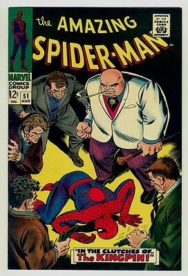 Amazing Spider-man #51 NM/MT 9.8 OW pages 1967 Marvel Silver age 2nd Kingpin