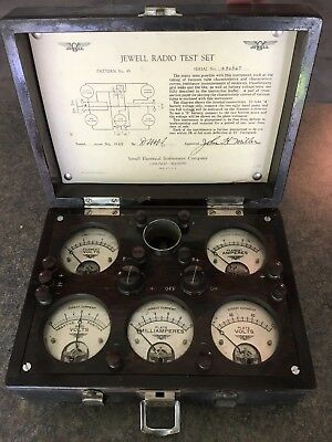 Jewell Radio Test Set Pattern No. 95 Tube Analyzer 1925 Very Good Condition