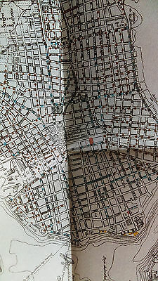 1900 Map of Plano De La Habana, Havana Cuba Showing Work On Streets
