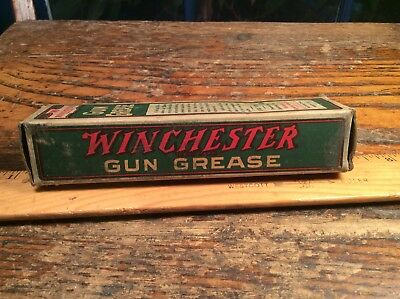 Original Winchester Repeating Arms Co., New Haven, Gun Grease Tube & Box. Old