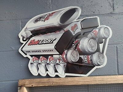 Coors Light Nascar Engine Metal Sign