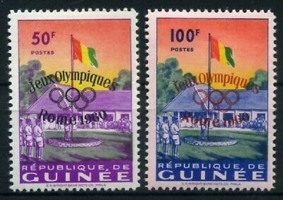 Guinea MiNr. 49-50 postfrisch/ MNH Olympiade 1960 (Oly488