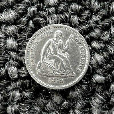1862 Liberty Seated Half Dime very nice NM or better