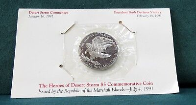 The Heroes of Desert Storm $5 Commemorative Coin