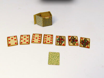 Antique Vintage 1:12, 1:6 Deck of PLAYING CARDS, in box, Joseph Gray Collection