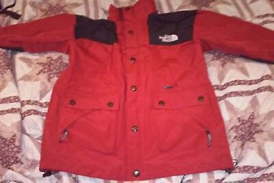 North Face Vtg 90's Gore-Tex Mountain Light Jacket Red Mens Sm. Guide