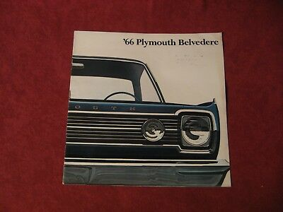 1966 Plymouth Belvedere Showroom Salesman Dealership Brochure Original Mopar Old