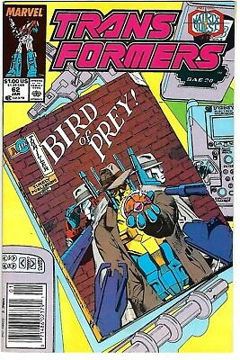 "Transformers #62 (1990) FN/VF  Furman - Senior  ""NEWSSTAND"" - Retail Edition"