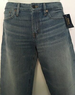 Ralph Lauren Polo Boys Slim Fit Jeans~Davit Wash Denim~5 Pocket~Size 18~NWT