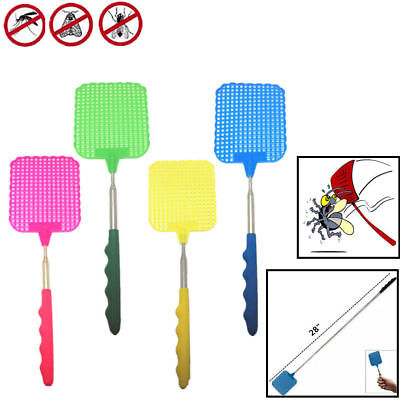 Plastic Telescopic Extendable Fly Swatter Prevent Pest Mosquito Tool Hot Sale