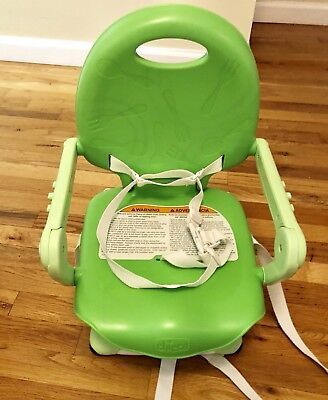 Chicco Pocket Snack Portable Booster Seat, Green