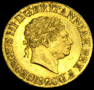 KING GEORGE THE III 1820 GOLD SOVEREIGN Excellent Condition...