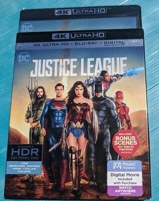 NEW Justice League 4k/UHD ULTRA HD & Blu-ray NO DIGITAL BLUERAY DC action movie