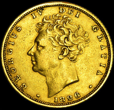 King George The Iv 1826 Gold Sovereign...