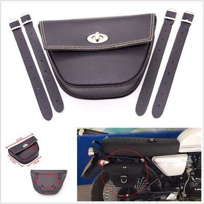 6dbb57d817d74 Black Synthetic Leather Triangle Motorcycle Bikes Side Saddle Bag Luggage  Pocket