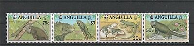 Anguílla 988-991 ZD** - Reptilien Inselleguan WWF (FG1244-2)