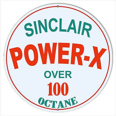 Large Sinclair Power-X Octane Motor Oil Sign 18 Round