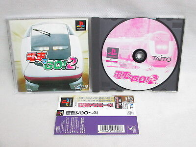 PS1 DENSHA DE GO 2 II with SPINE * Playstation Japan Video Game p1