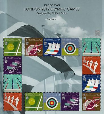 GB Isle of Man London 2012 Olympic Games sheet MNH stamps sheetlet Free postage!