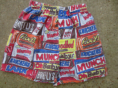 vintage Briefly Stated 90s kids M 10-12 Candy Bar spoof boxers sleep shorts