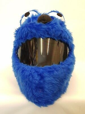 Blue Elmo Funny Heeds Crazy Crash Helmet Cover