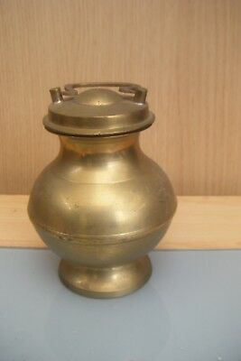 vintage brass indian holy water pot? .