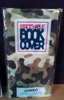 JUMBO Camouflage Stretchable Fabric Book Covers - New