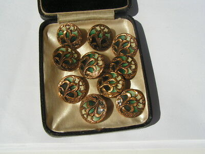 10 Lovely Vintage Art Nouveau Style Small Buttons