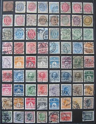 Denmark Old Collection of used and mint stamps until 1965 -> 5 pages