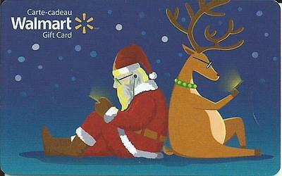 New 2016 Santa & Christmas Mint Gift Card From Walmart Canada # 4 Bilingual