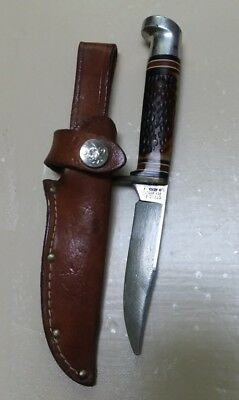 Vintage OFFICIAL BOY SCOUTS BSA Fixed blade Knife USA Camp Hunt