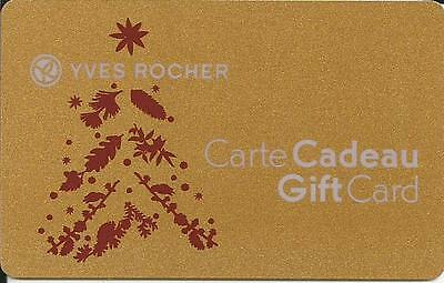Christmas Mint Gift Card From Yves Rocher Canada Bilingual No Value