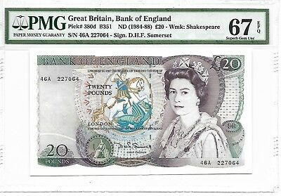 Great Britain, Bank of England - 20 pounds, nd (1984-88). PMG 67EPQ.