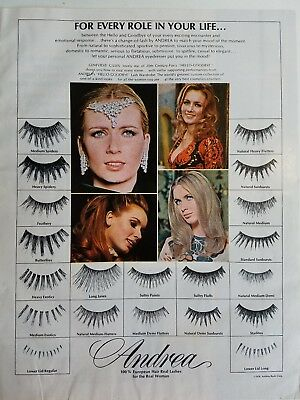 1970 ANDREA false eyelashes for every role in your life Beauty ad