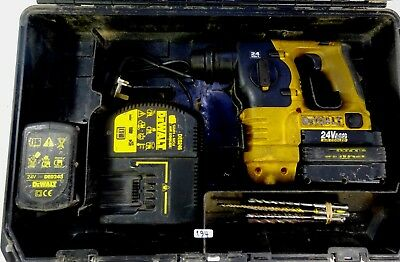 DeWALT DC223 24v 3-MODE SDS CORDLESS HAMMER DRILL CHISEL FUNCTION 2x BATTERY