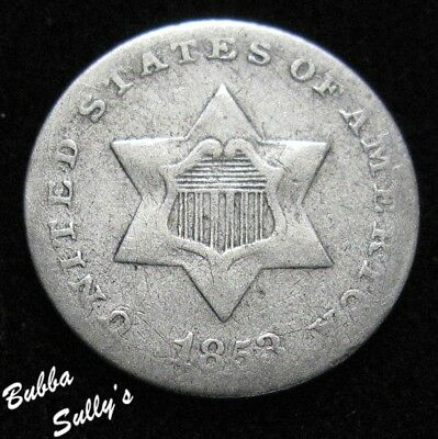 1853 III Cent Silver <> F Details