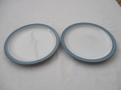 """denby colonial blue 2 dinner plates10.5"""" very good used condition"""