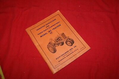 Original Allis-Chalmers Operating Instruction Manual Model WD45 Tractor
