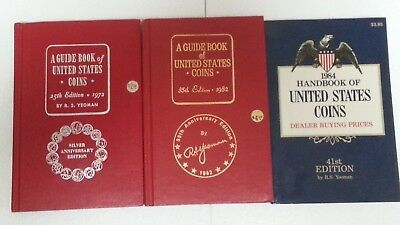 3 Yeoman Coins Books ~2 Red Books (1972 & 1982) ~1 Handbook (1984) ~Collectible!