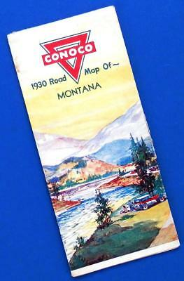 1930 Road Map of MONTANA by CONOCO