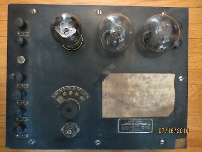 WESTERN ELECTRIC 7A Amplifier. 1920's w/ tennis ball tubes ANTIQUE VINTAGE RADIO