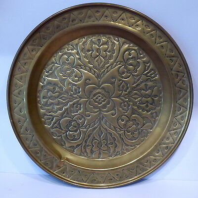 Original Arts and Crafts Period Brass Charger